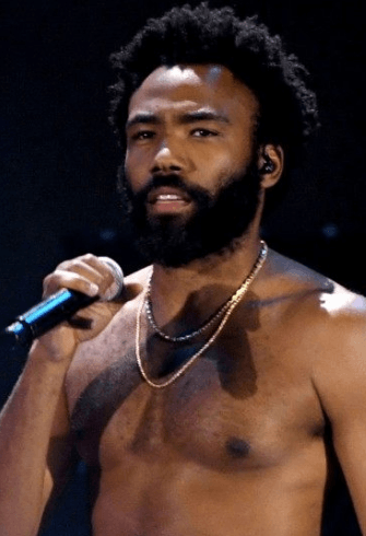 Donald Glover topless