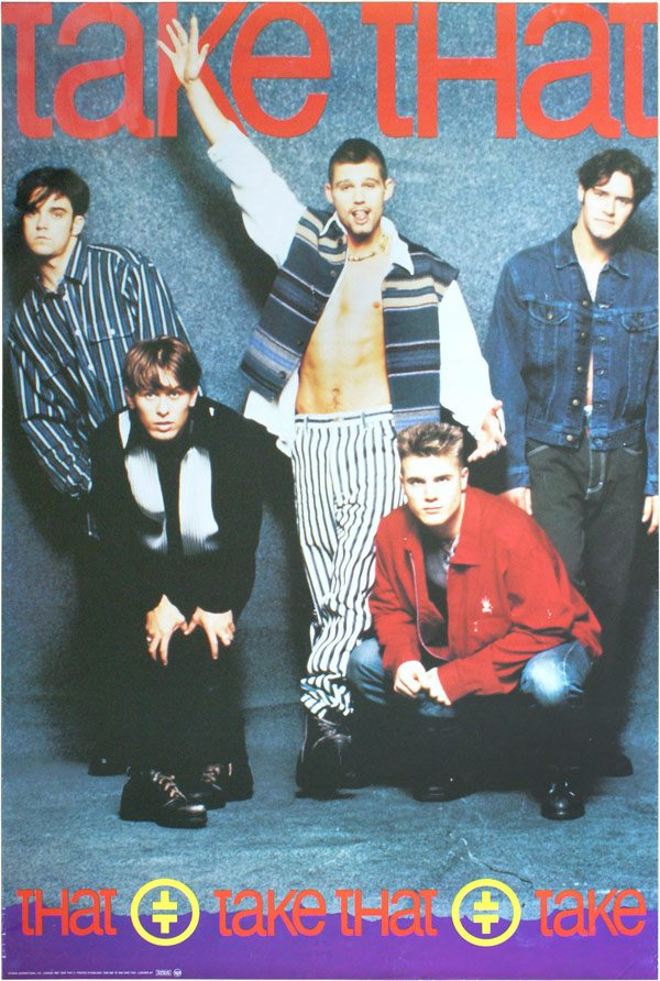 A Take That poster from the 1990s