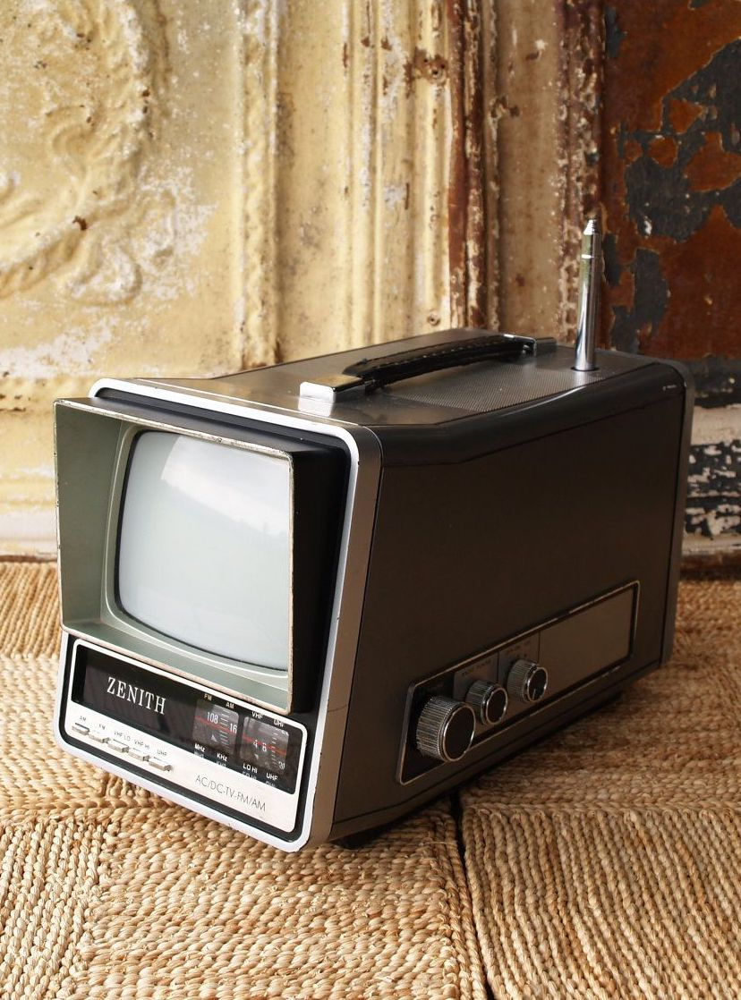 A Zenith portable TV from the 1980s
