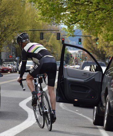 dooring cyclist More Than Half Of Drivers Think Of Cyclists As 'Sub-Human'