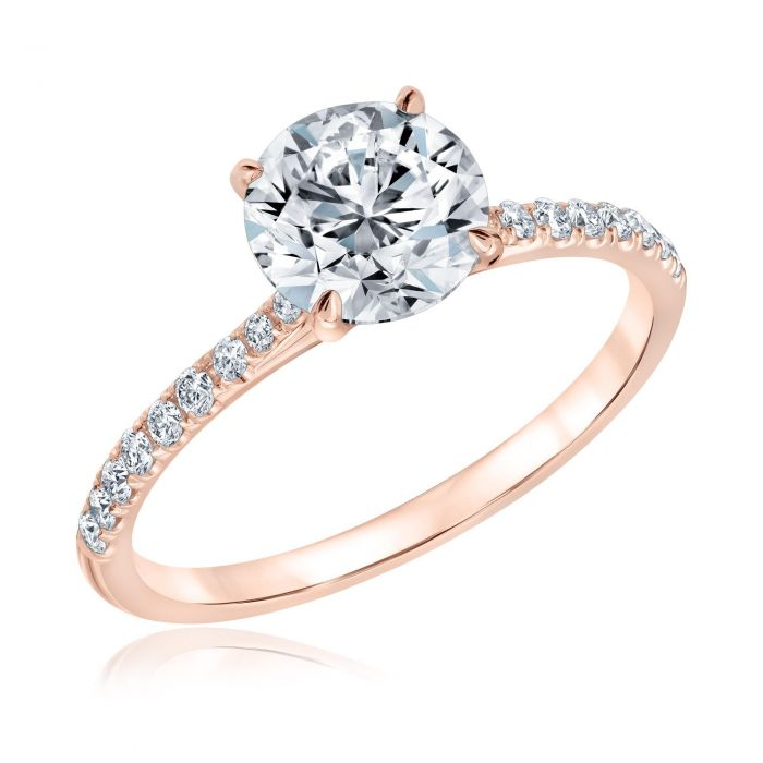 forevermark round diamond rose gold engagement ring 1 3 4ctw 1 19572700 t1545419568 15 Of The Most Popular Wedding Ring Trends Right Now