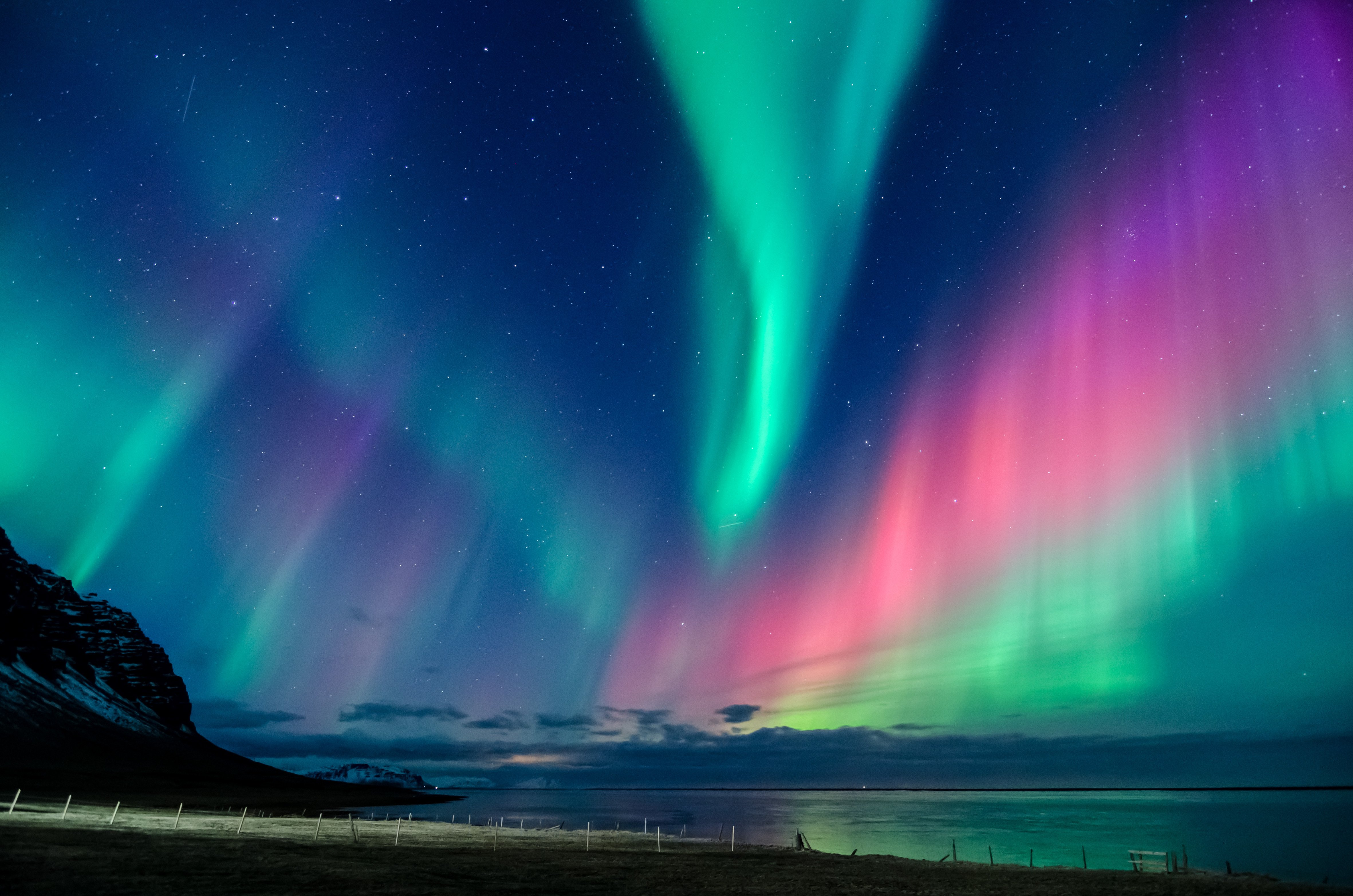 northern lights in all the colors of the rainbow dance across the sky in iceland 6 The Northern Lights Could Be Visible Across The UK This Weekend
