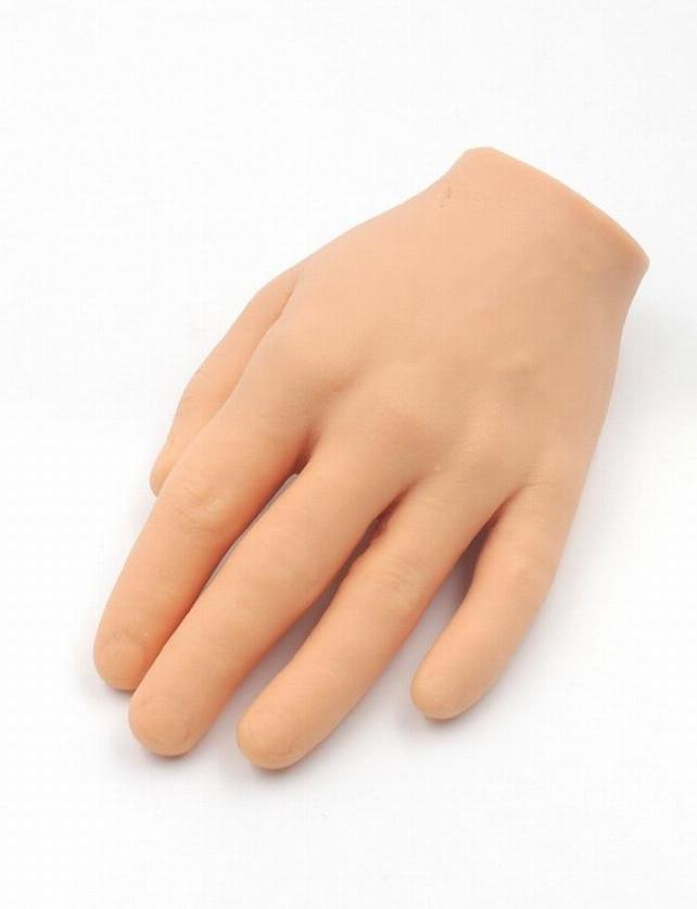 plastic flexible mannequin model fake hand for nail art practice display tool salon nails training tattoo practice hand skin Woman Cuts Own Hand Off With Circular Saw 'In Order To Claim Insurance Money'