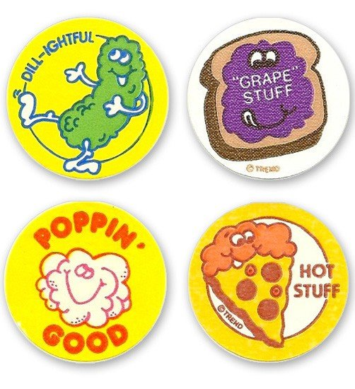 1980s scratch and sniff stickers