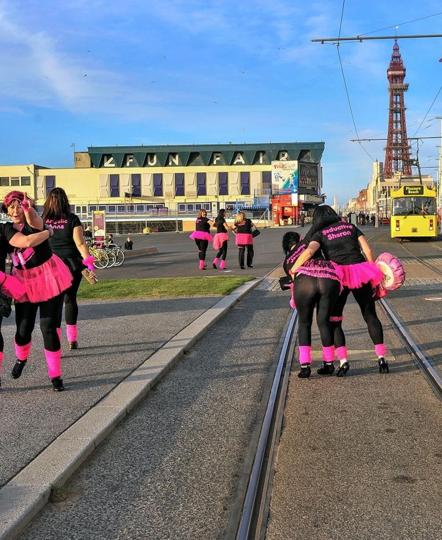 Hen party in Blackpool