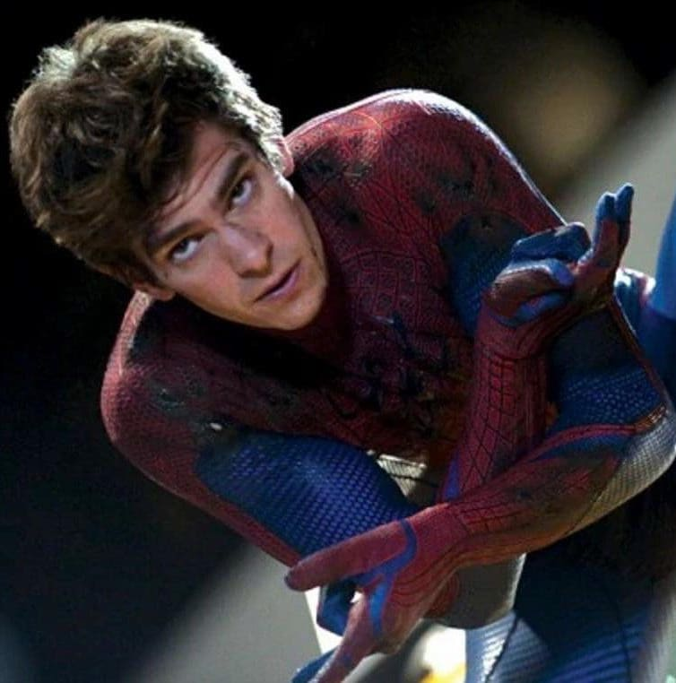 Andrew Garfield in the Spidey suit as Peter Parker in The Amazing Spider-Man