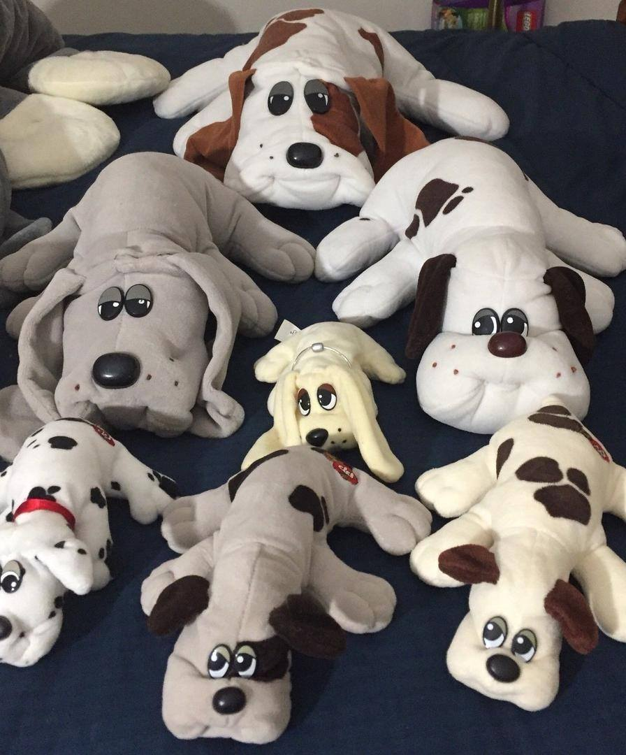 Pound Puppies soft toys from the 1980s