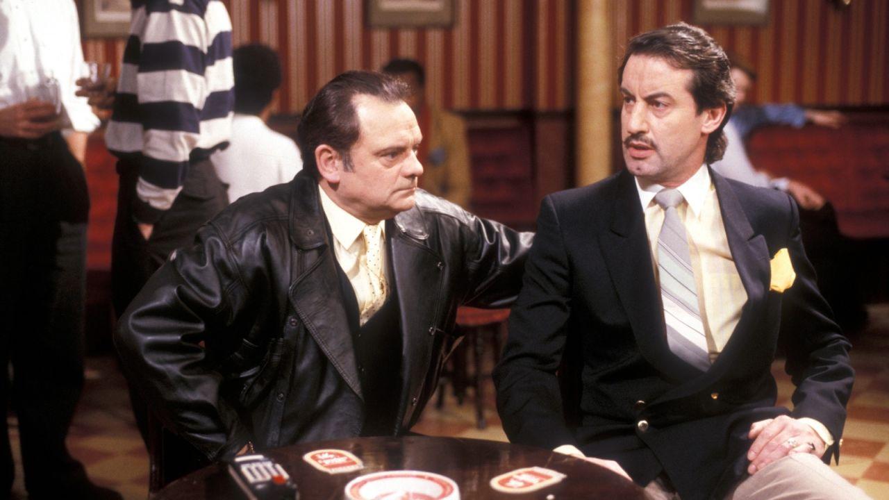 Sir David Jason as Del Boy with John Challis as Boycie