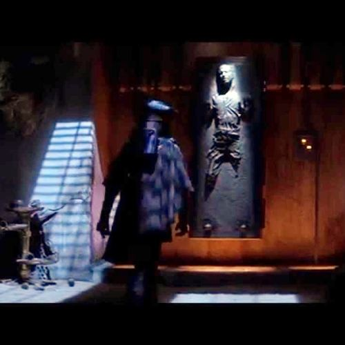 Han Solo in carbonite, Jabba's palace, Return of the Jedi 1983