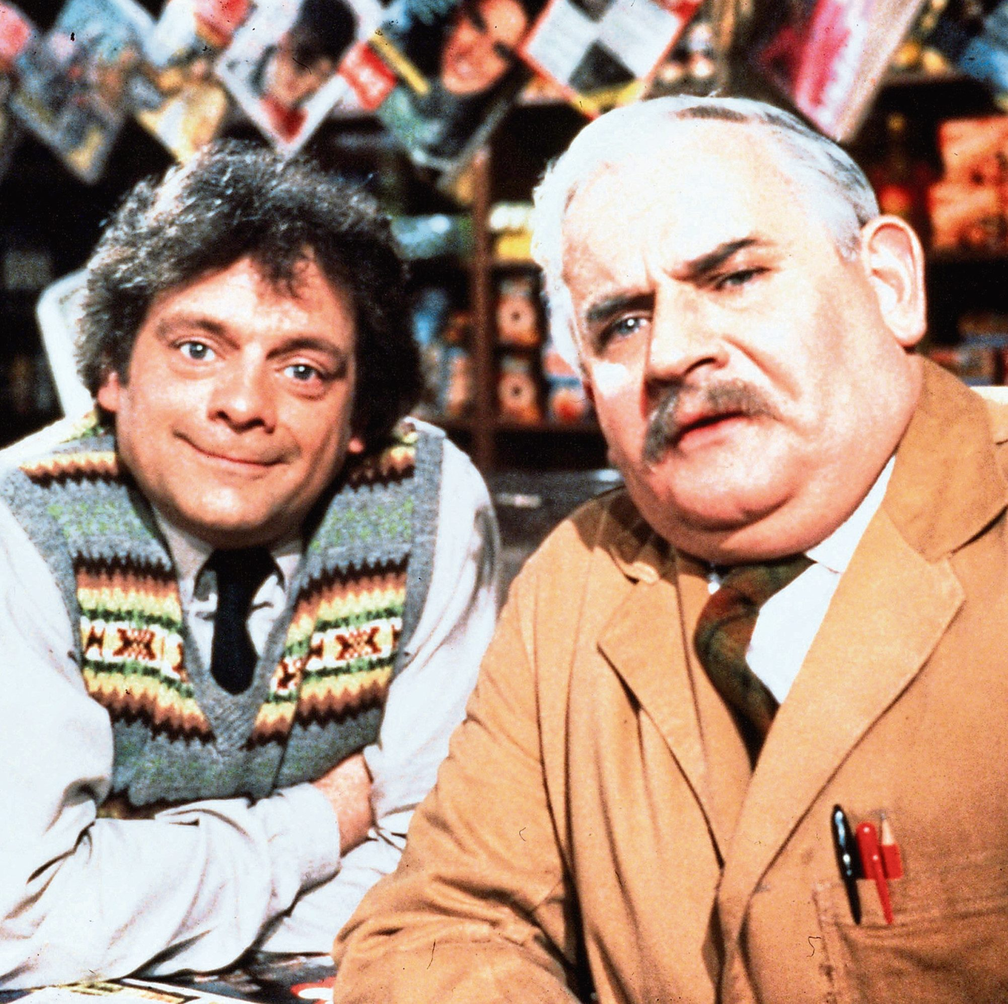 Sir David Jason in Open All Hours with Ronnie Barker as Arkwright