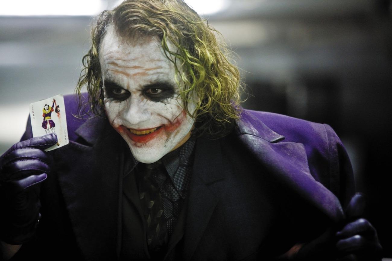 Heath Ledger as the Joker in Dark Knight Rises