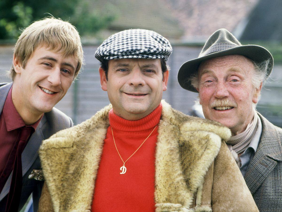 Nicholas Lyndhurst as Rodney, Sir David Jason as Del Boy, and Lennard Pearce as Granddad in Only Fools and Horses