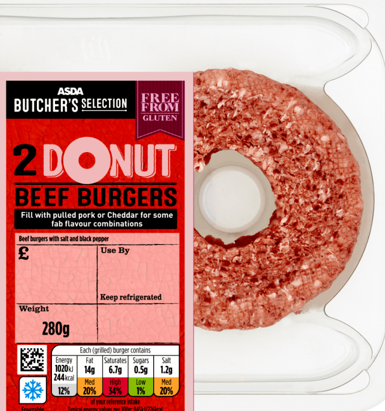 Asda is selling £2 DONUT beef burgers with a hole 1 Asda Now Selling Donut-Shaped Beef Burgers, Because Why Not