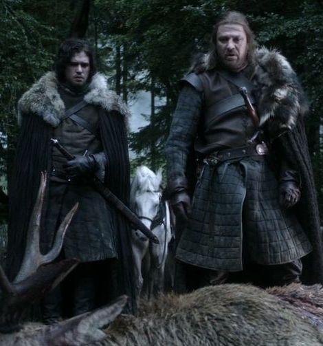 Jon Snow with Eddard Stark and Theon Greyjoy house stark 24505255 1280 720 20 Things You Didn't Know About Kit Harington
