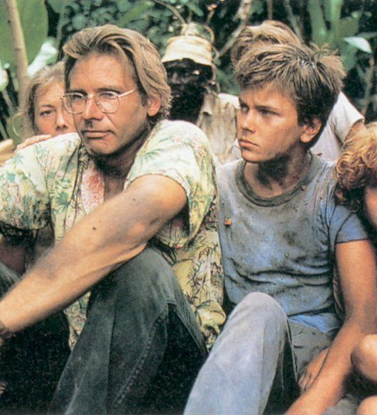 Harrison Ford and River Phoenix as Allie and Charlie Fox in The Mosquito Coast (1986)