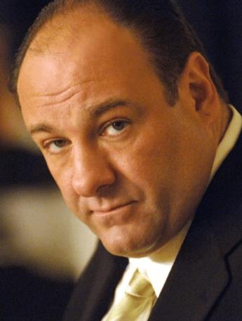 Tony Soprano stares into the camera