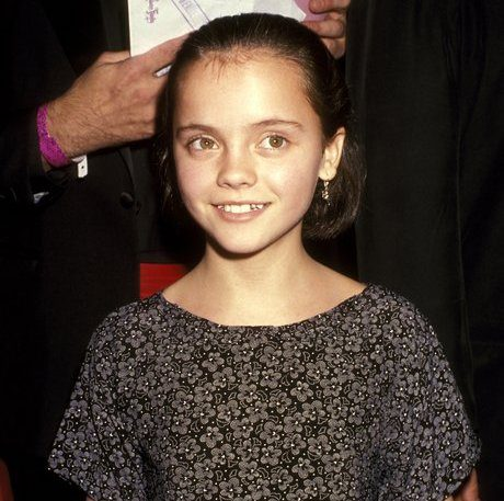 Christina Ricci on the red carpet while still a child actor