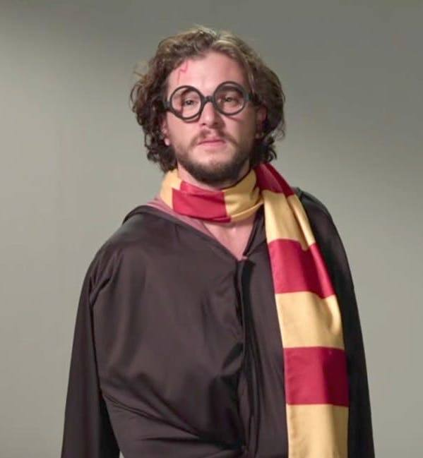 kit harington as harry potter 20 Things You Didn't Know About Kit Harington