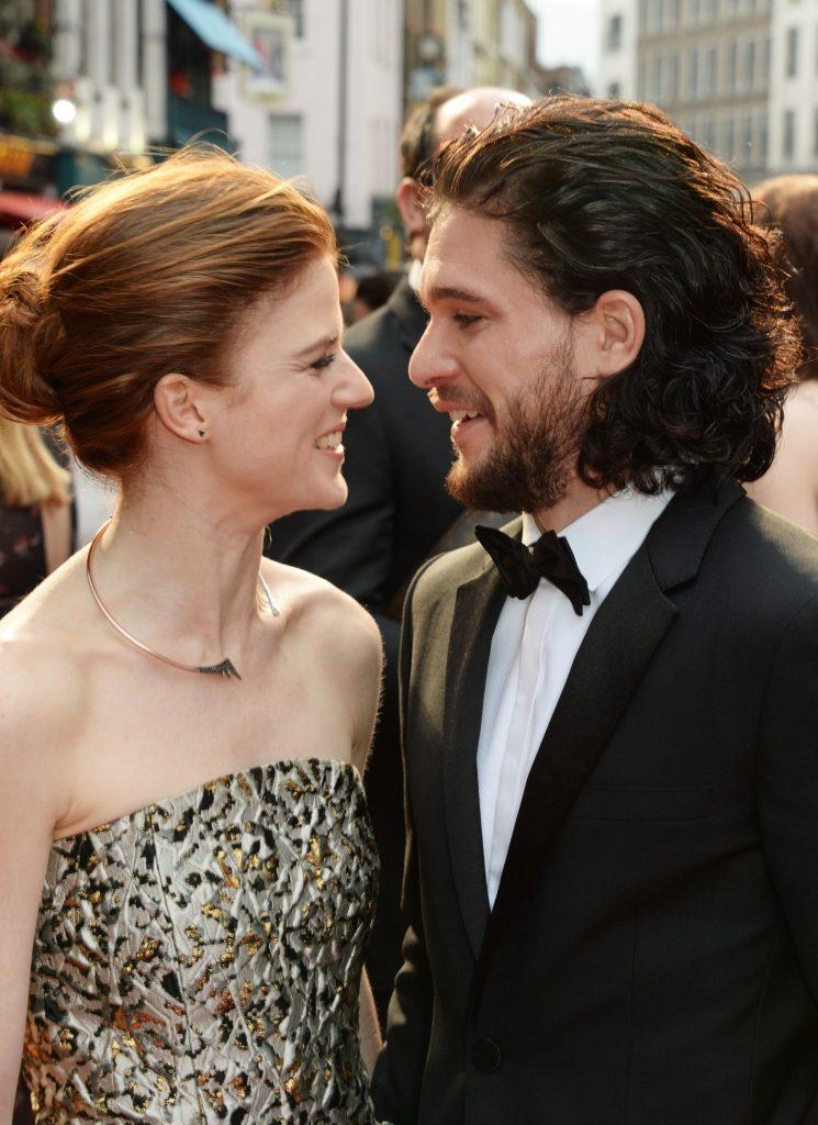Husband and wife Rose Leslie and Kit Harington on the red carpet