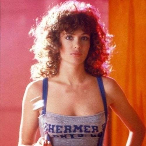 Kelly LeBrock wearing gym gear as Lisa in Weird Science, 1985