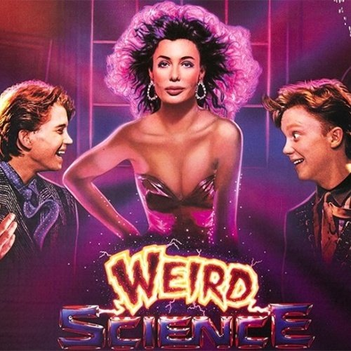 Weird Science movie poster, featuring Kelly LeBrock, Ilan Mitchell-Smith, Anthony Michael Hall