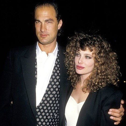 Steven Seagal with Kelly LeBrock, circa 1980s