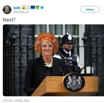Kathy Burke b3a8 Kathy Burke Suggests Linda La Hughes As New Prime Minister