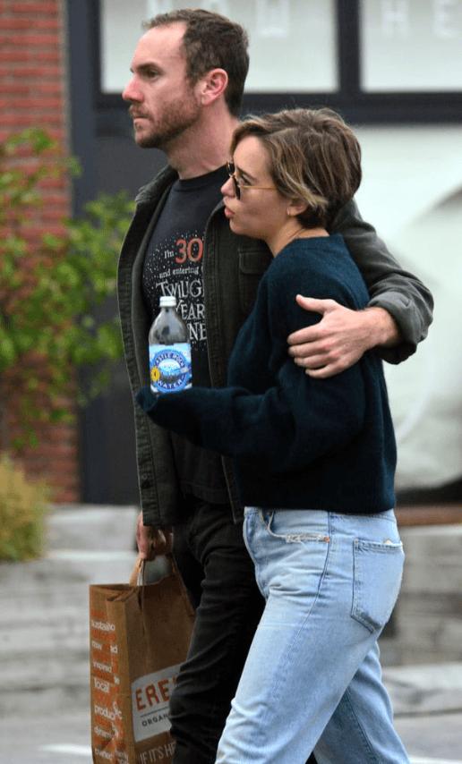 Emilia Clarke with former boyfriend Charlie McDowell