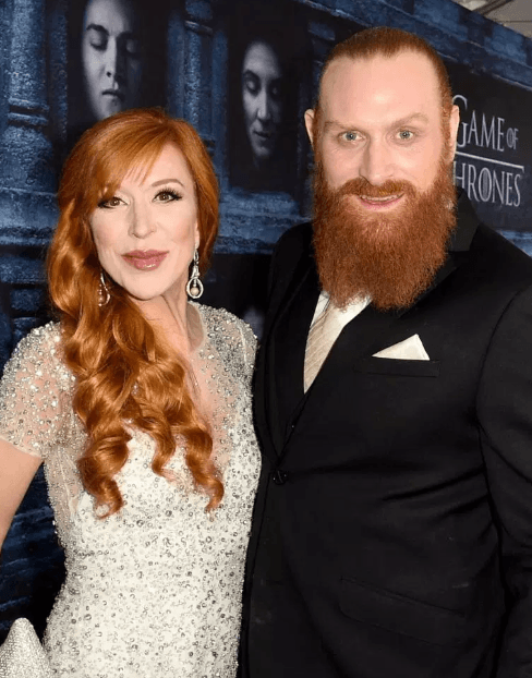 Husband and wife Kristofer Hivju and Gry Molvaer Hiviju Game of Thrones season 5 premiere