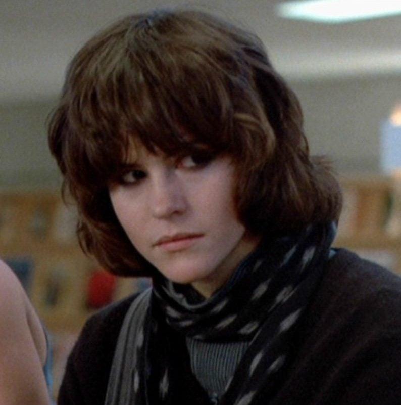 Ally Sheedy as Allison Reynolds in Brat Pack movie The Breakfast Club (1985)