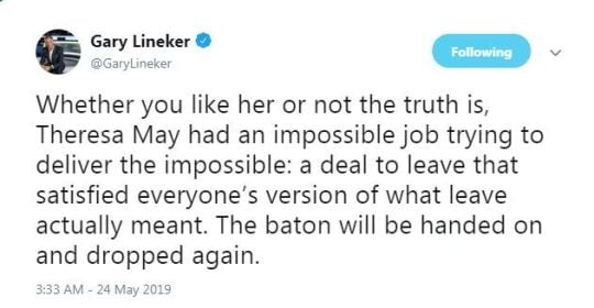 gary lineker tweet 9cb4 Kathy Burke Suggests Linda La Hughes As New Prime Minister