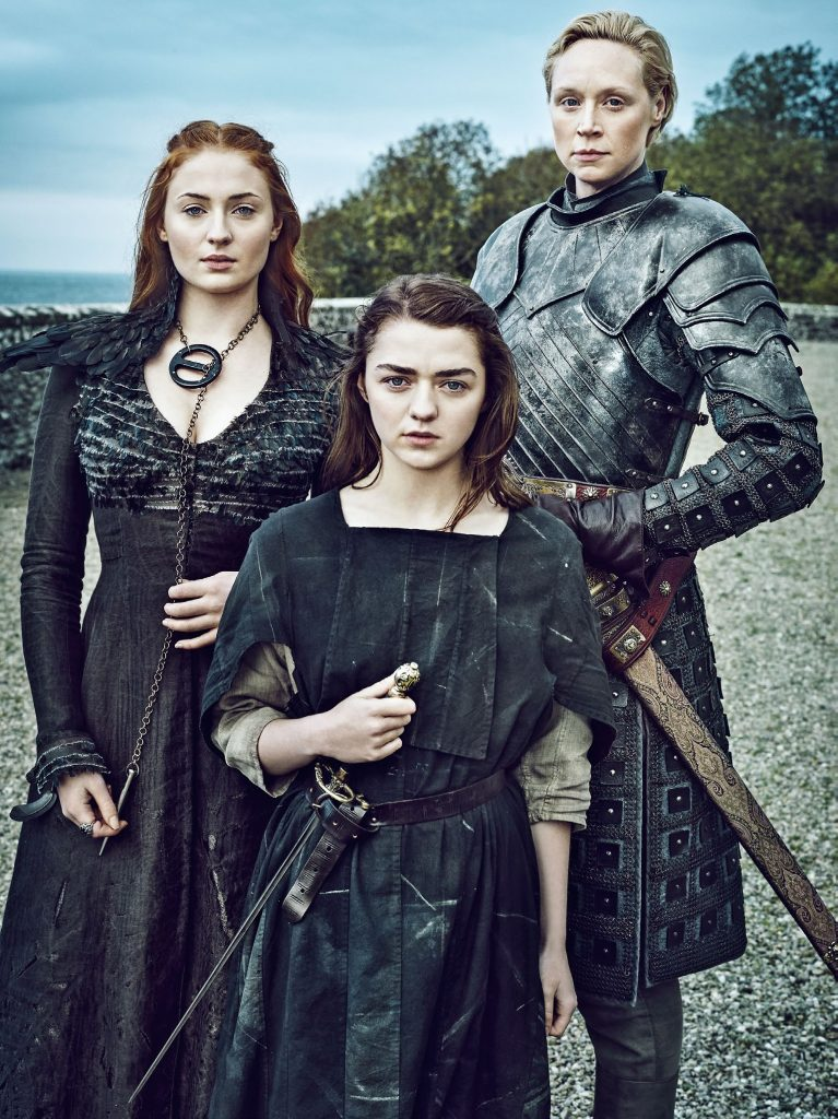 sansa and arya with brinne house stark 39634382 1538 2054 The 18 Biggest Changes In Game Of Thrones From Book To Screen