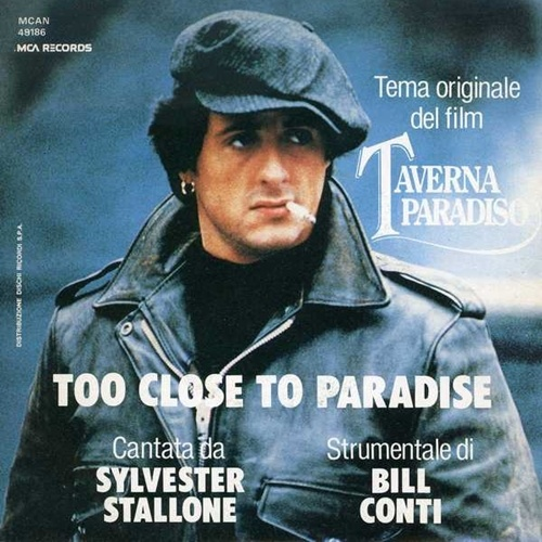 The poster for Too Close to Paradise featuring Sylvester Stallone