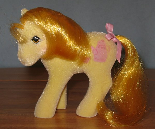 Unlike their hard plastic counterparts, So Soft ponies are covered in fuzz. You won't often see these in the best condition – so ones that remain new in their packaging are treated as antique