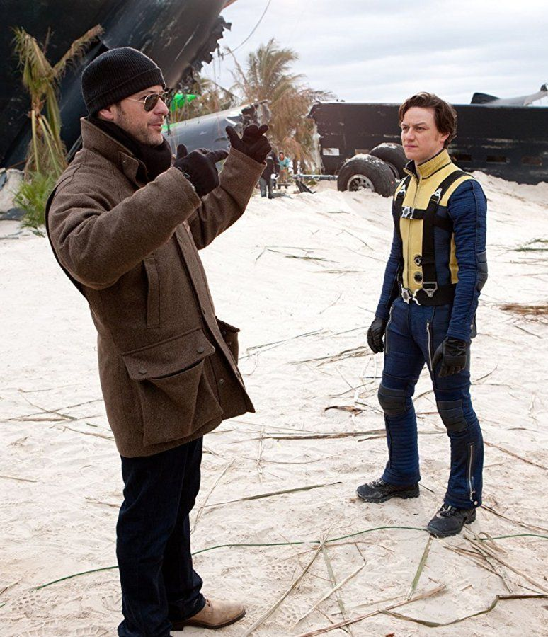 James McAvoy and Matthew Vaughn in X First Class 2011 24 Things You Didn't Know About The X-Men Films