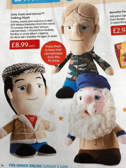 Screenshot 2019 06 04 at 11.01.31 Aldi Selling Range Of Only Fools And Horses Talking Plush Toys