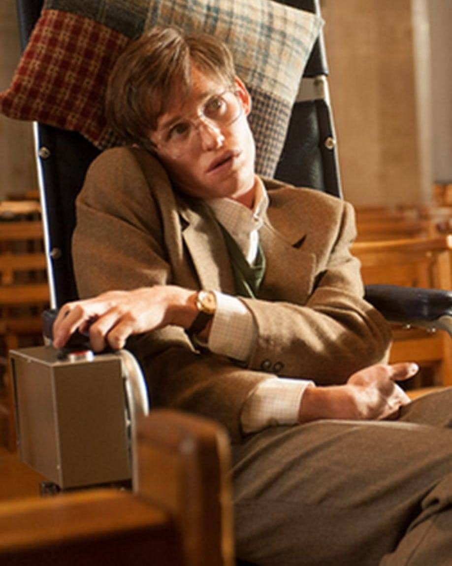 eddie redmayne as stephen hawking in the theory of everything 10 Actors Who Seriously Injured Themselves To Win An Oscar