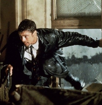seven chase 20 Film Scenes That Nearly Killed The Actor