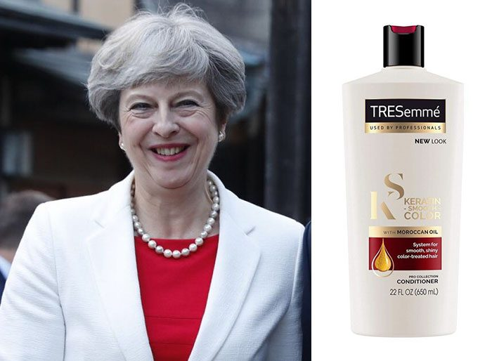 shampoo bottles tresemme clothes theresa may 10 5cf4efee4b5f2 700 Here Are 9 Pictures Of Theresa May Dressed Like Bottles Of Tresemmé