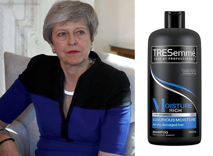shampoo bottles tresemme clothes theresa may 4 5cf4efe3edc1b 700 Here Are 9 Pictures Of Theresa May Dressed Like Bottles Of Tresemmé