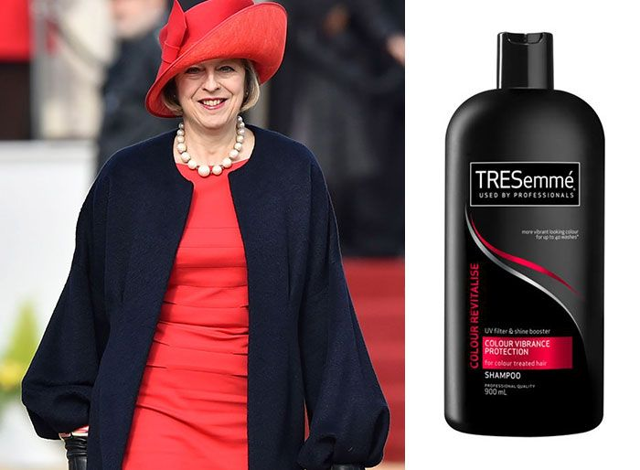 shampoo bottles tresemme clothes theresa may 5 5cf4efe5ae631 700 Here Are 9 Pictures Of Theresa May Dressed Like Bottles Of Tresemmé