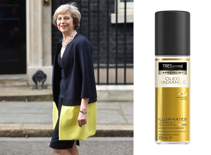 shampoo bottles tresemme clothes theresa may 6 5cf4efe73ff53 700 Here Are 9 Pictures Of Theresa May Dressed Like Bottles Of Tresemmé
