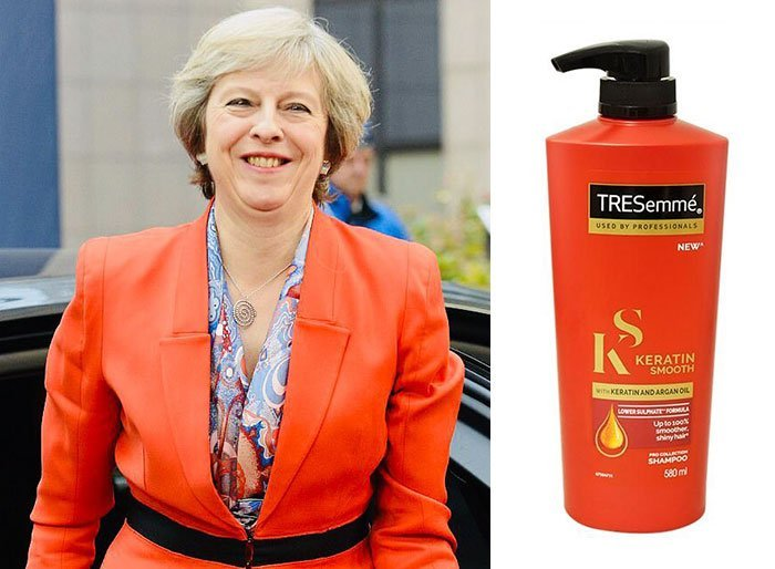 shampoo bottles tresemme clothes theresa may 9 5cf4efec4a664 700 Here Are 9 Pictures Of Theresa May Dressed Like Bottles Of Tresemmé