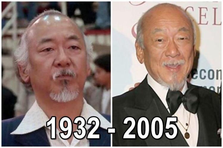 Noriyuki 'Pat' Morita as Mr Miyagi and now
