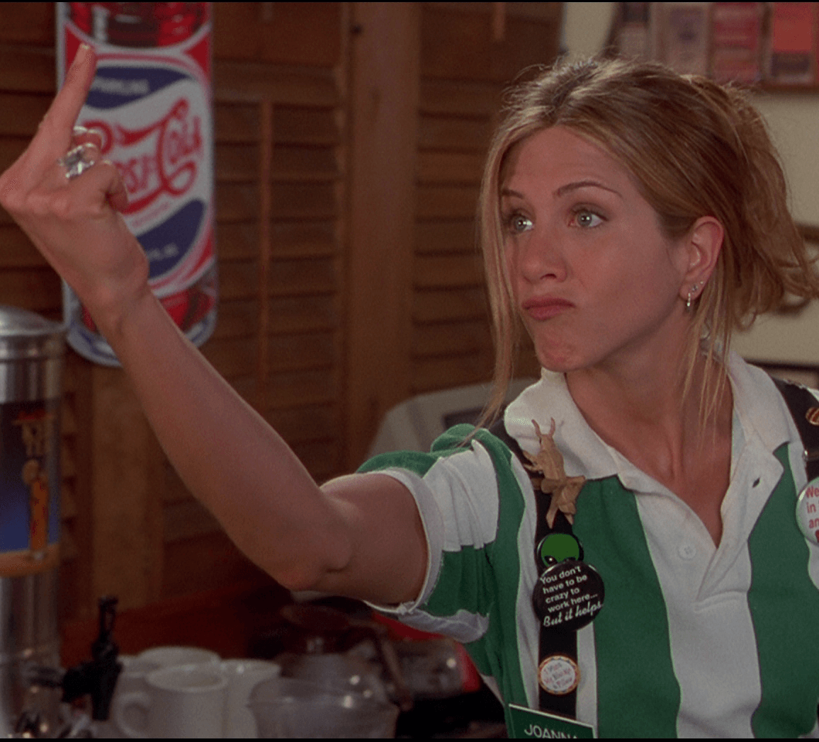 2 JEN FINGER 20 Things You Never Knew About Jennifer Aniston
