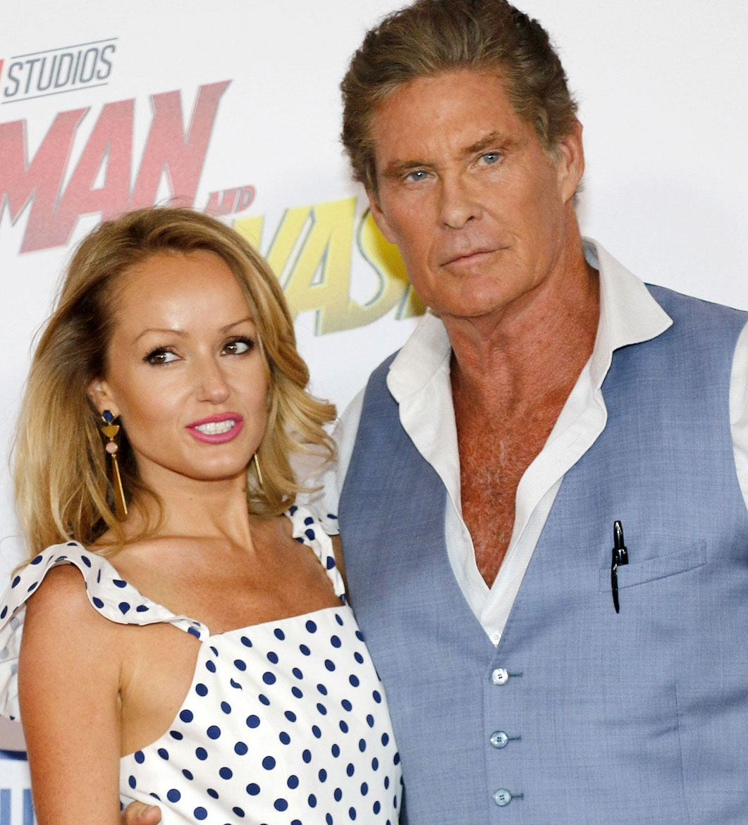 David Hasselhoff Hayley Roberts third wife Ant-Man and the Wasp premiere