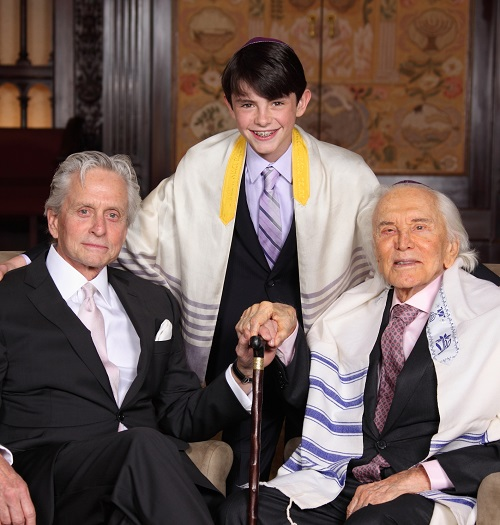 Kirk Douglas grandson bar mitzvah pic 20 Things You Might Not Have Realised About Michael Douglas