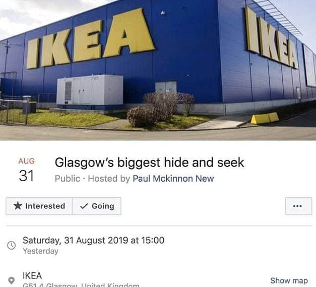 17944846 7416899 image m 5 1567362530438 e1567420692697 Police Guard Glasgow Ikea From 3,000 People Trying To Play Hide And Seek In Store