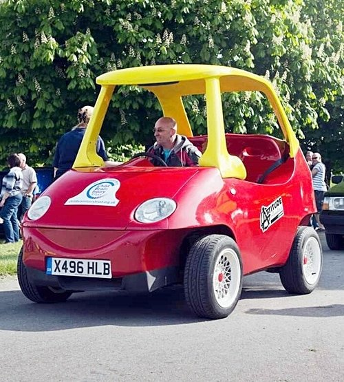 5 32 There's An Adult Version Of The Little Tikes Cozy Coupe, And It's Roadworthy!