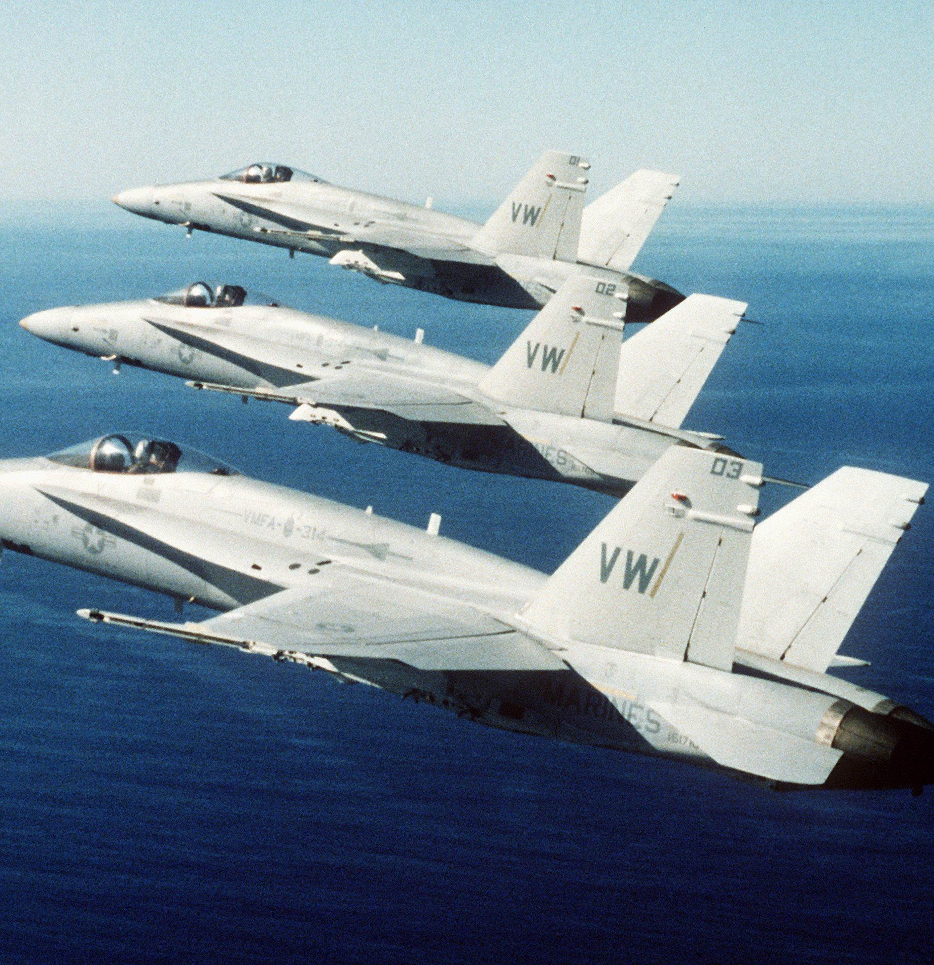 F 18s from VFMA 314 in formation e1582811496917 20 Things You Probably Didn't Know About Independence Day